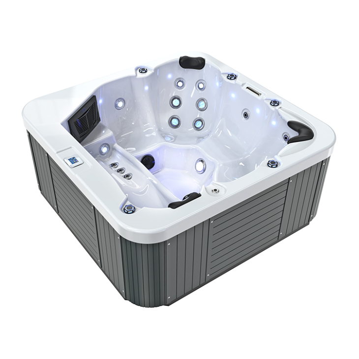 ZR7102 Outdoor Whirlpool With Two Lounge Seat